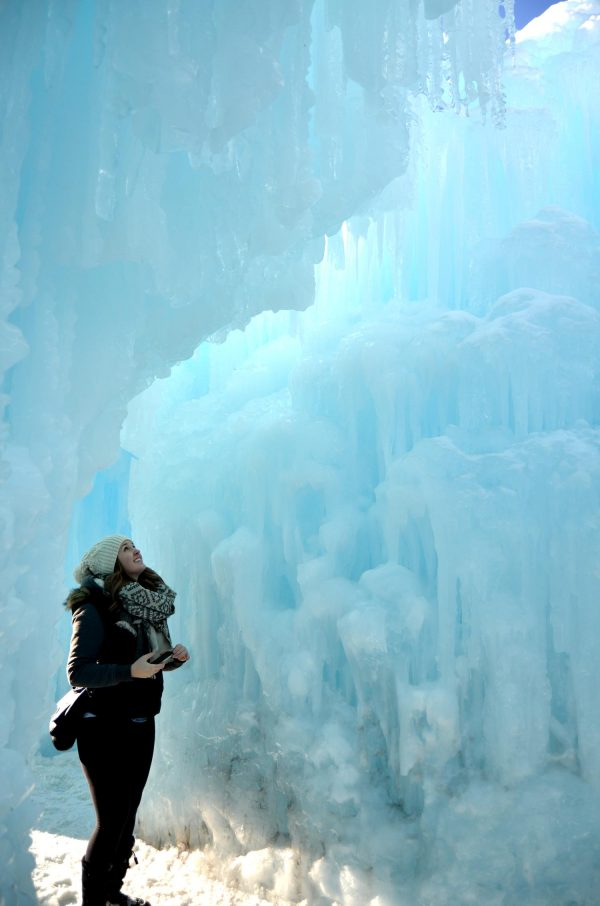 Exploring the Ice Castles - Edmonton, Alberta